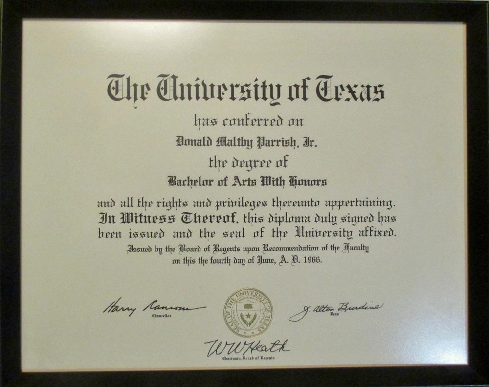 apostille Texas diploma